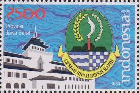 perangko lambang provinsi jawa barat