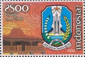 perangko lambang provinsi jawa timur
