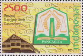 perangko lambang provinsi nanggroe aceh darussalam