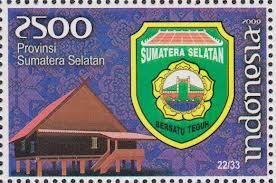 perangko lambang provinsi sumatera selatan