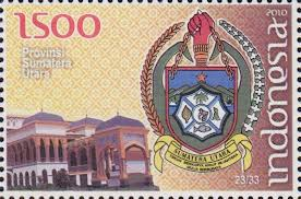perangko lambang provinsi sumatera utara